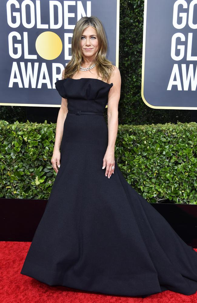 The Morning Show star Jennifer Aniston arrives at the Golden Globes. Picture: Getty Images