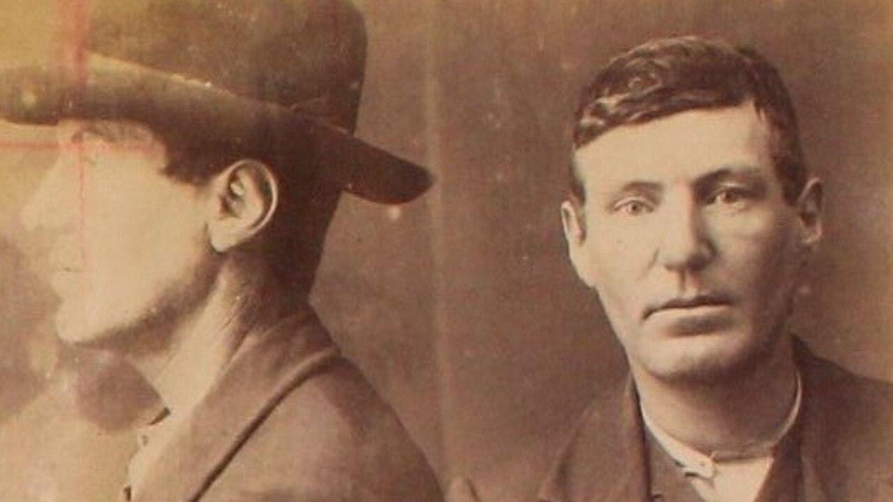 Robert Aspinall's mugshot circa 1909.
