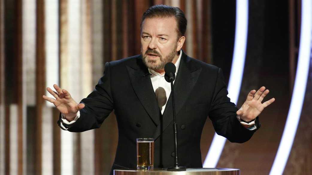 Golden Globes host Ricky Gervais.