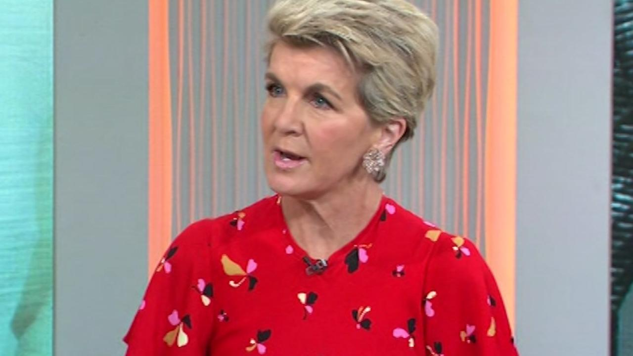 Julie Bishop was interviewed on Today this morning. Picture: Nine