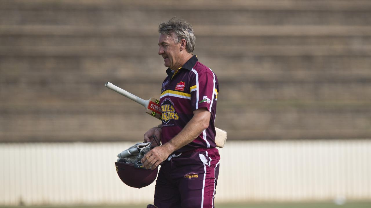 FORMER GREAT: 19-test and 67-ODI veteran Andy Bichel laced them up for the Bulls Masters. Picture: Kevin Farmer