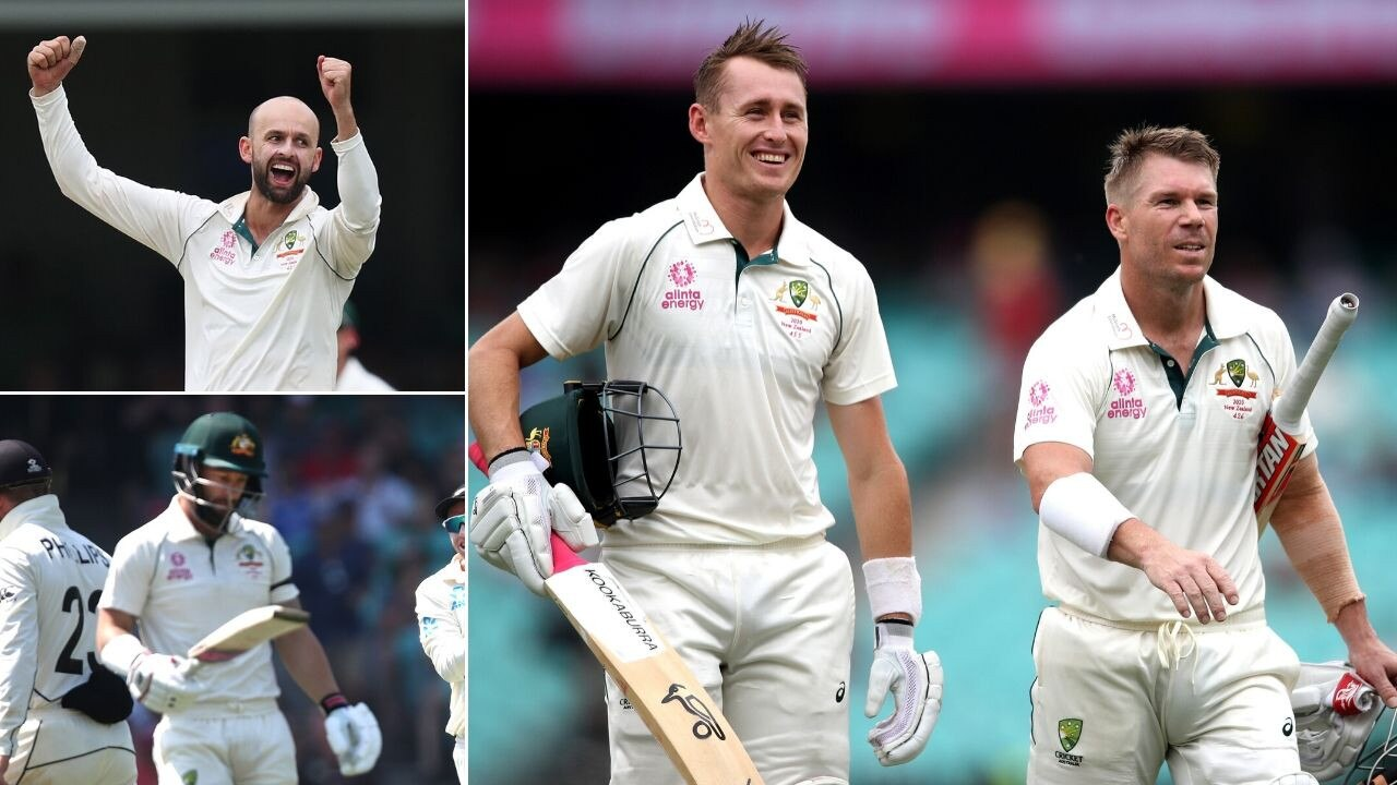 Marnus Labuschagne and David Warner scored the runs - while Nathan Lyon nailed a 10-wicket haul.