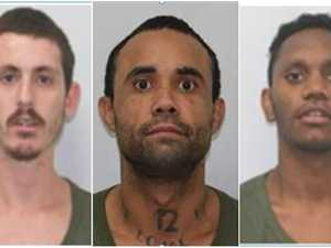 Three prison escapees on the run