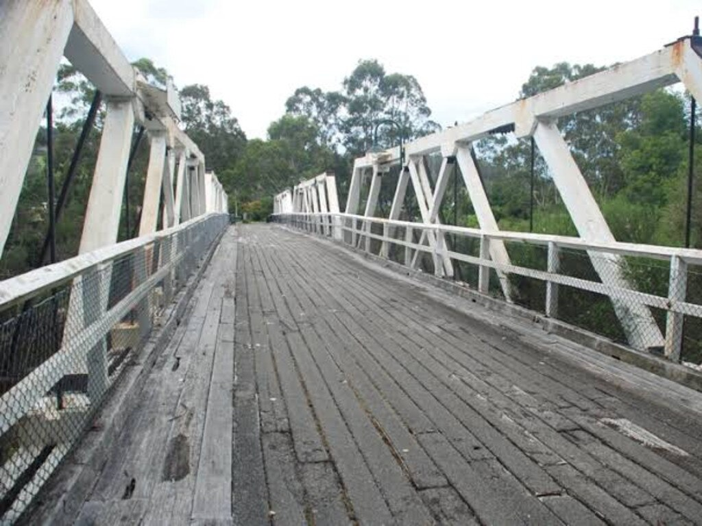 The heritage listed Victorian bridge on the Princes Highway was built in the 1920s. Picture: Heritage Council Victoria