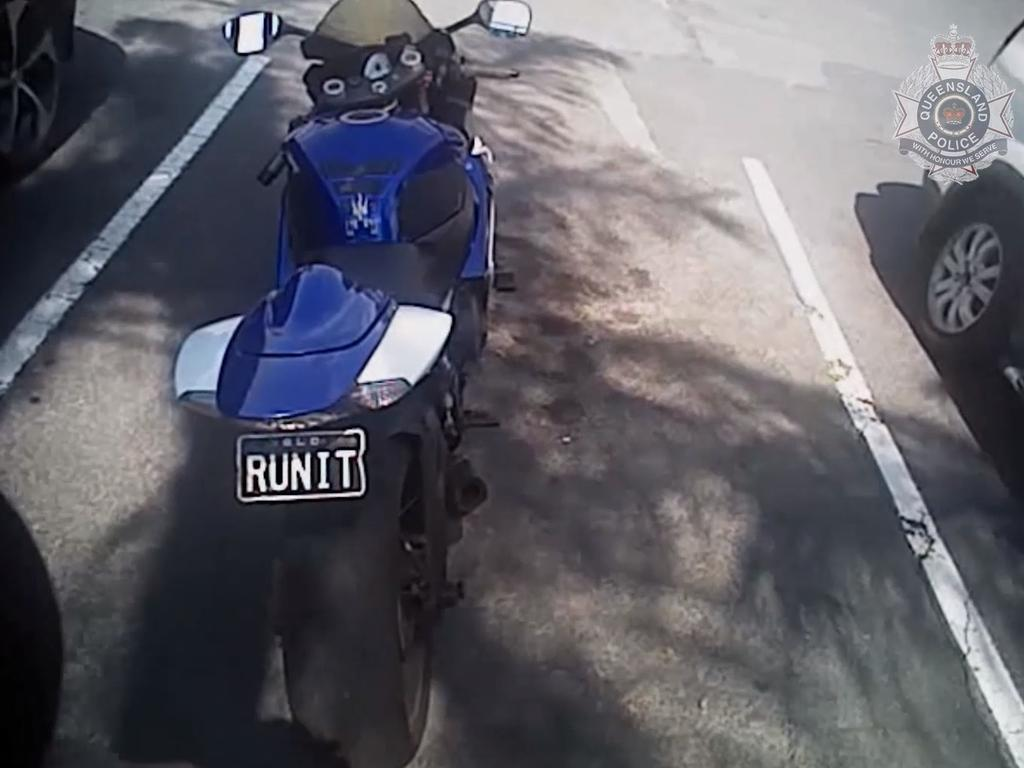 He allegedly had stolen plates. Picture: QLD Police