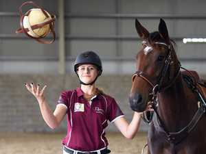 It's 'basketball and rugby' on horseback
