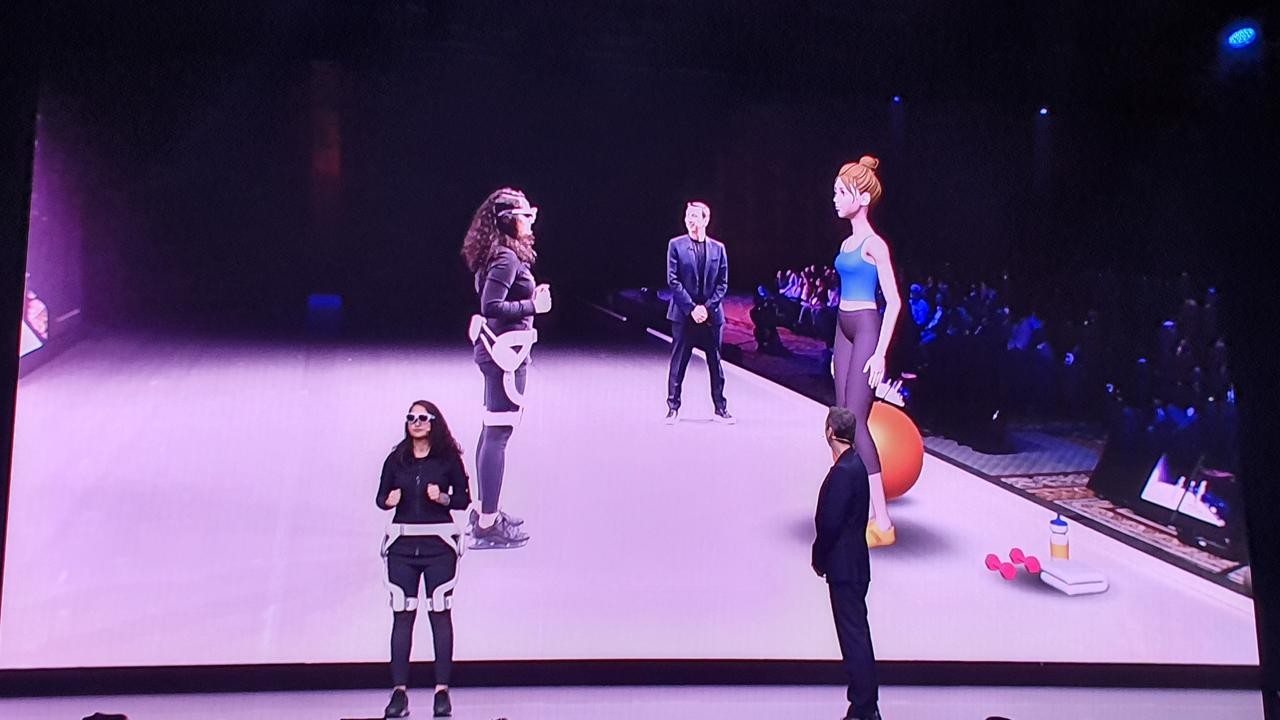 Samsung demonstrates its GEMS AR technology. Photo: Tanya French