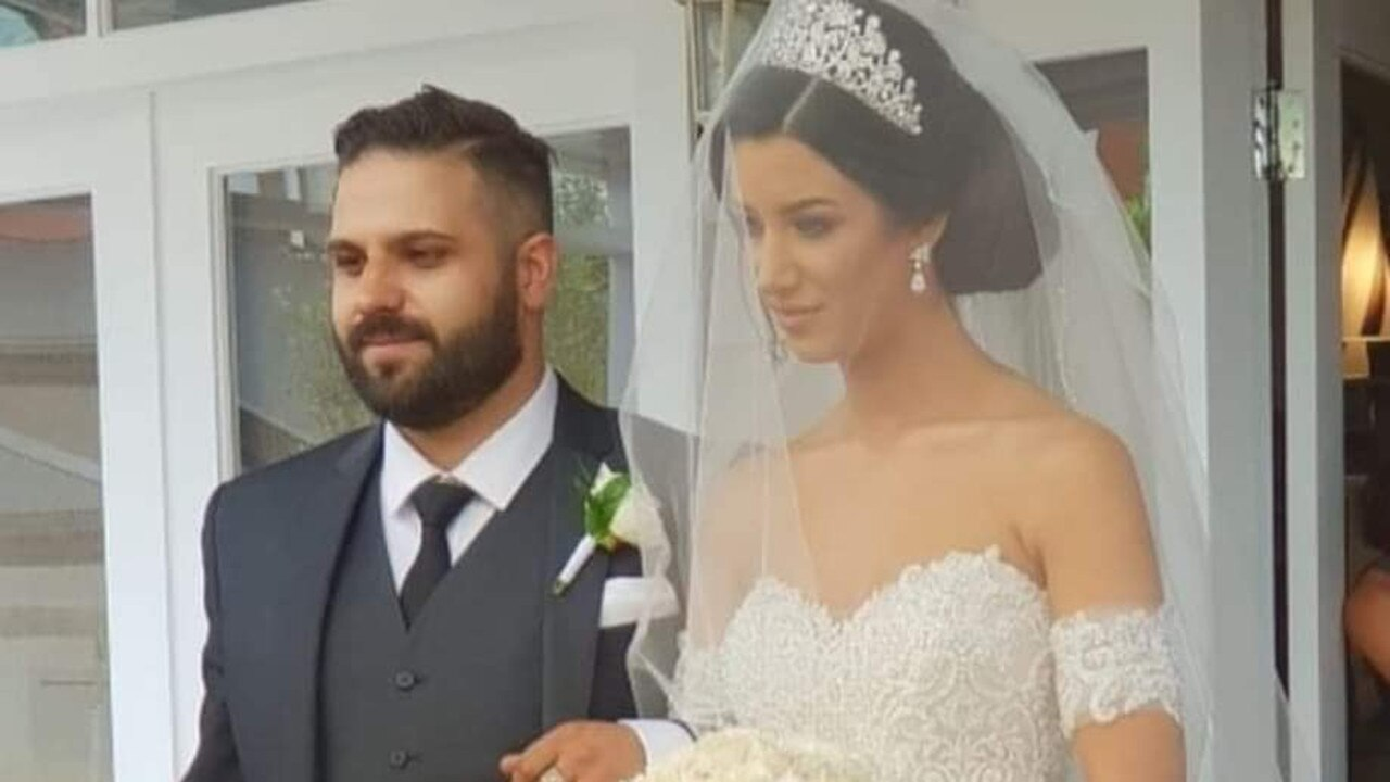 Arben Shaptafaj and his sister Lindita Musai on her wedding day. Picture: Facebook