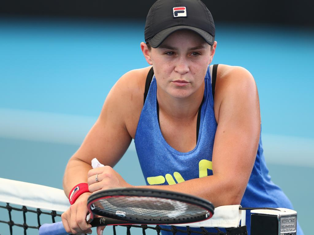 Ash Barty won't play a competitive match apart from two doubles matches until Thursday.
