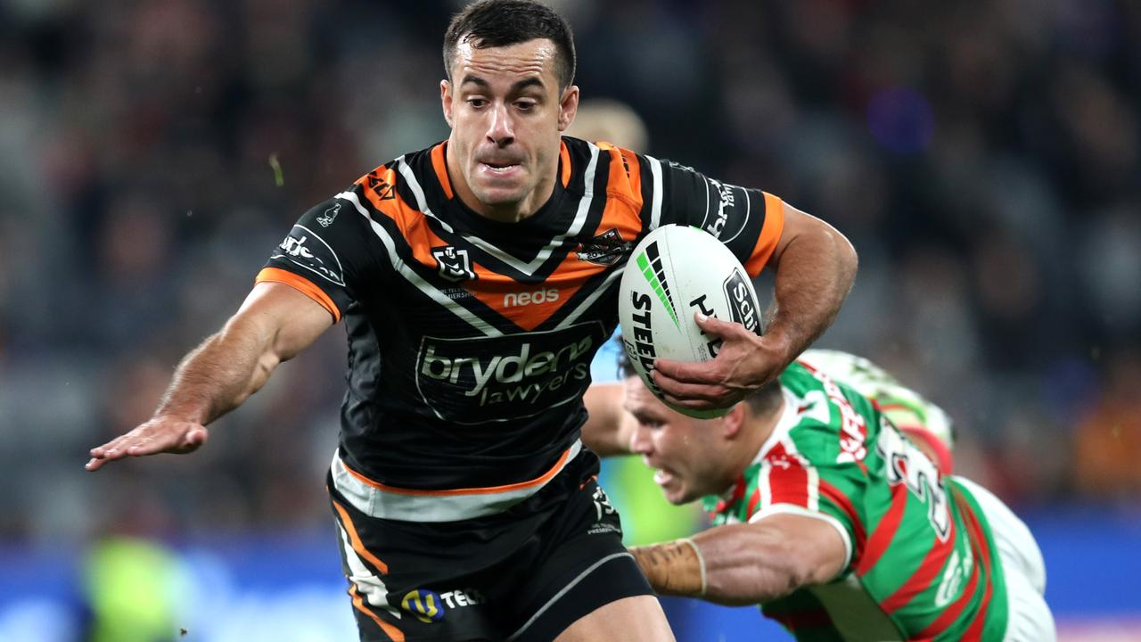 Corey Thompson sums up Wests Tigers graft but lack of star power. Photo: Phil Hillyard