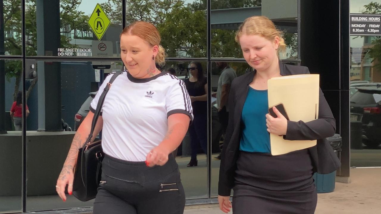Temika Maree Gow outside court with lawyer Bettina Webb