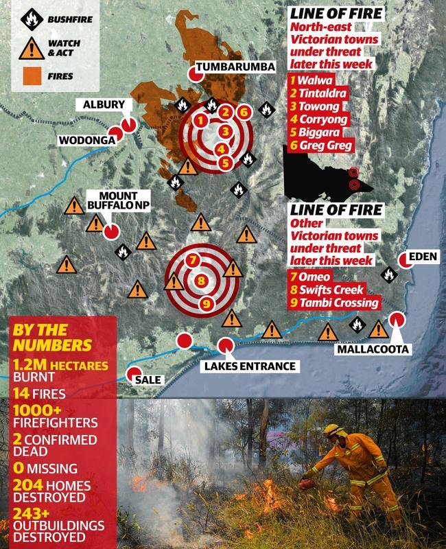 Victoria bushfire map 650 x 800