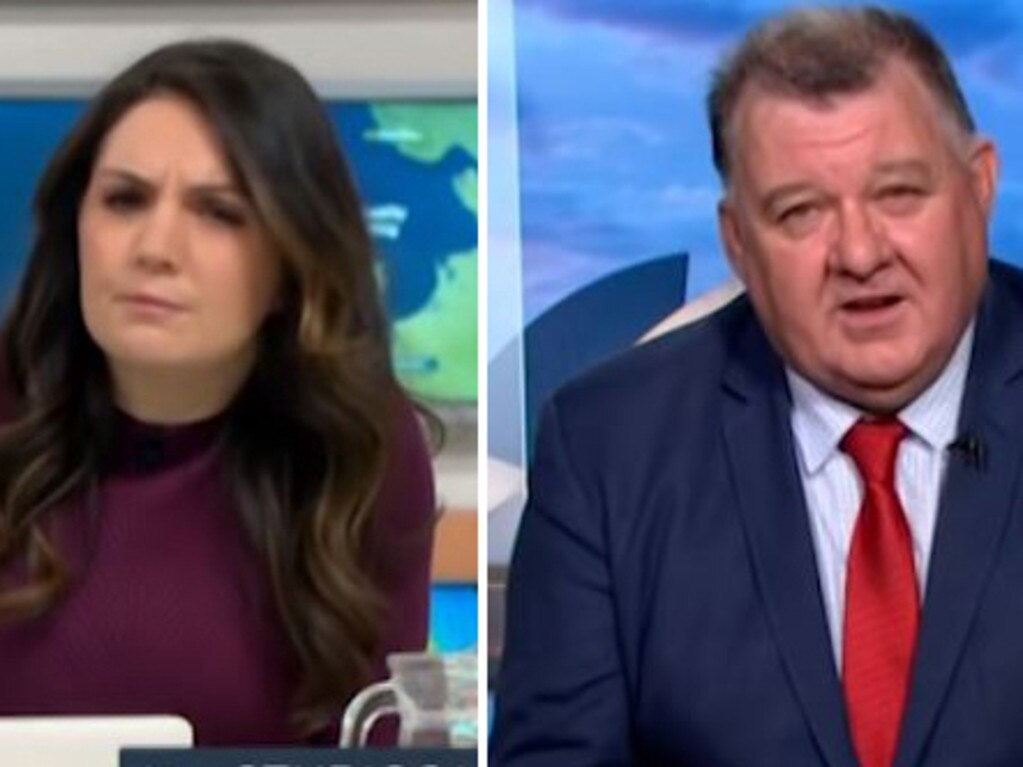"Craig Kelly, right, labelled meteorologist Laura Tobin a ""weather girl""."