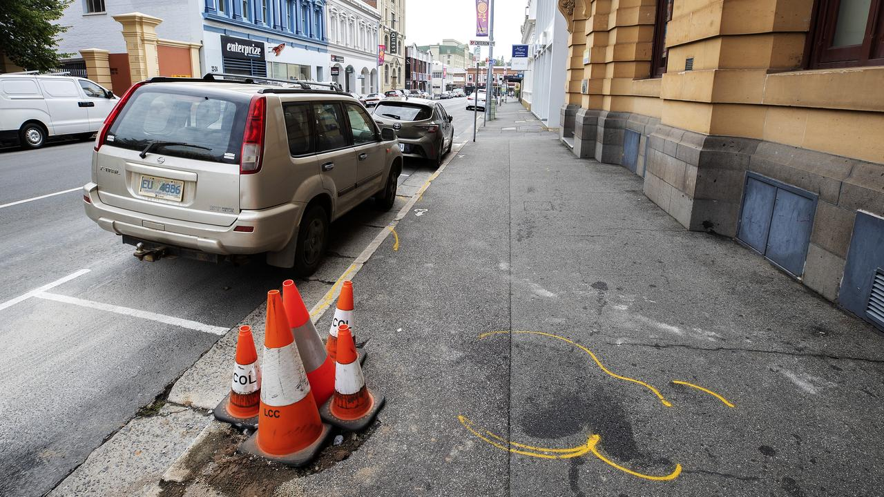 The man is the second tourist to be killed walking on Tasmania's streets in two days. Picture: CHRIS KIDD