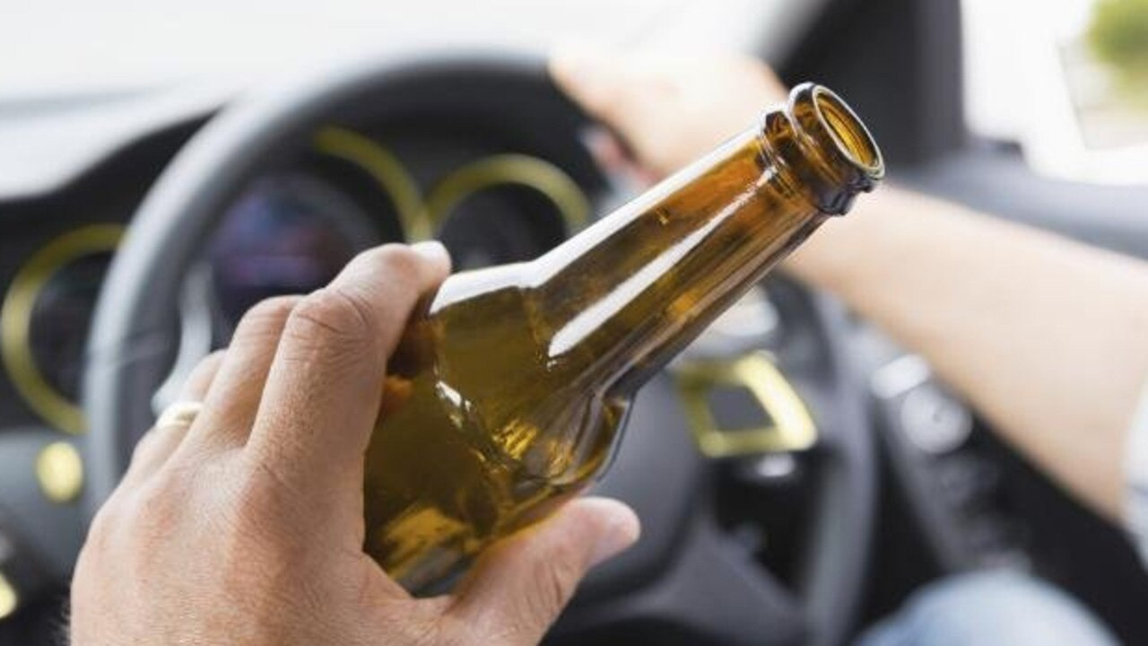 A woman was caught behind the wheel of her car at more than five times over the legal limit.