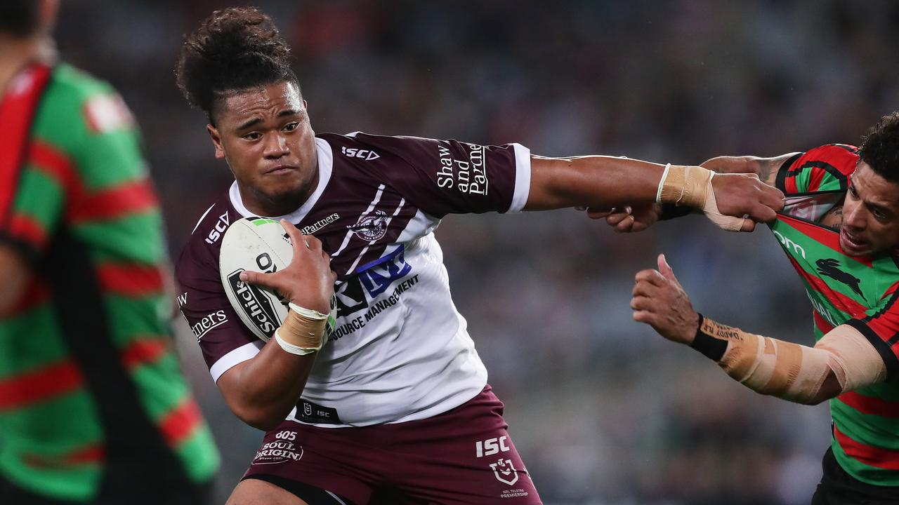 Moses Suli could be Manly's x-factor. Photo: Matt King/Getty Images