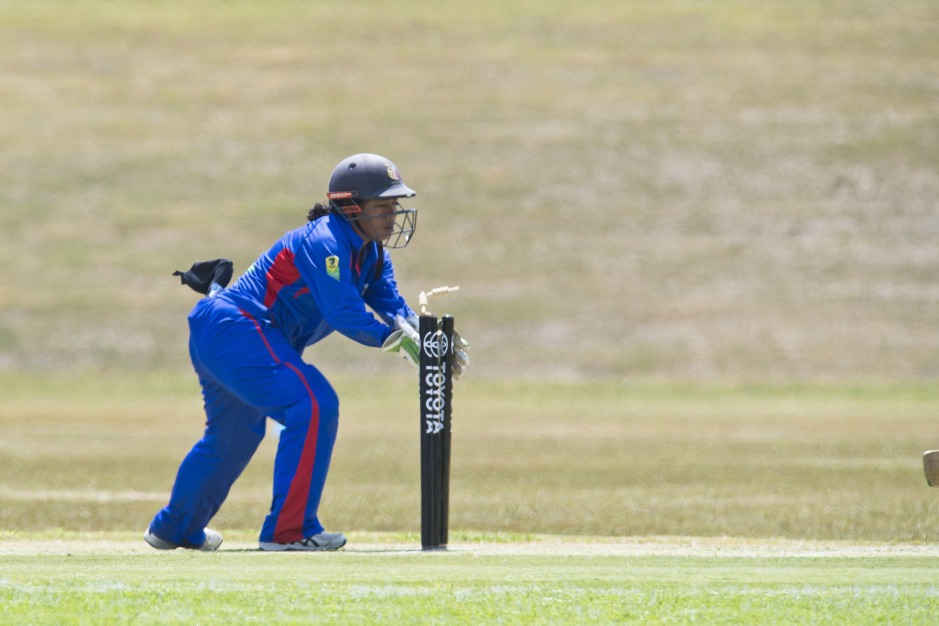 East Asia Pacific captain/wicketkeeper Brenda Tau stumps Western Australia's Chloe Wain in Australian Country Cricket Championships women's division round six at Highfields Sport Park, Wednesday, January 8, 2020. Picture: Kevin Farmer