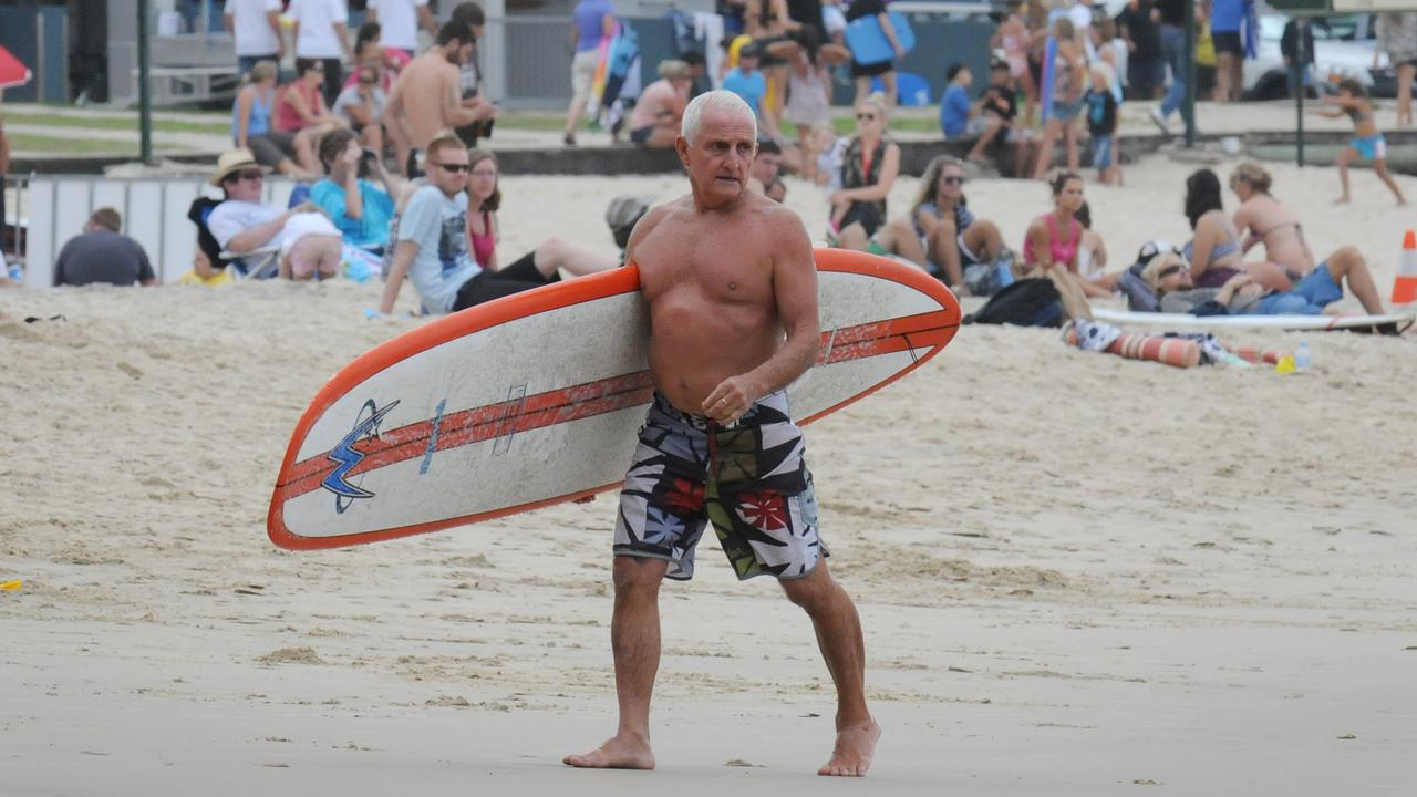 Bob McTavish was a fierce competitor at the Noosa Festival of Surfing.