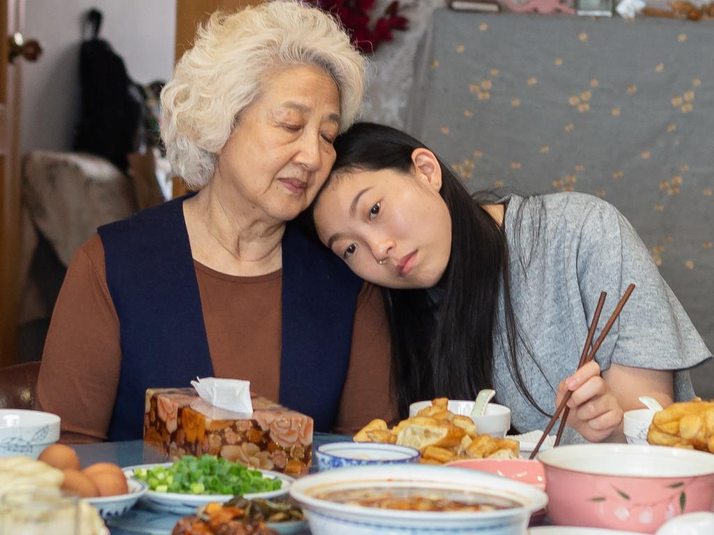 Shuzhen Zhao and Awkwafina in a scene from the movie The Farewell. Picture: Roadshow