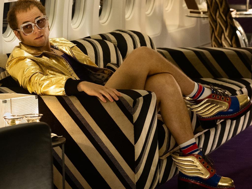 Taron Egerton won a Golden Globe for playing Elton John in Rocketman. Picture: Paramount