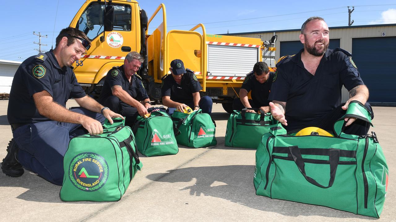 Rural Fire Service Officers Darren Regan, Tim Murphy, Darren Hinton, Luke Stevenson and Liam Mulvaney. Picture: Tony Martin