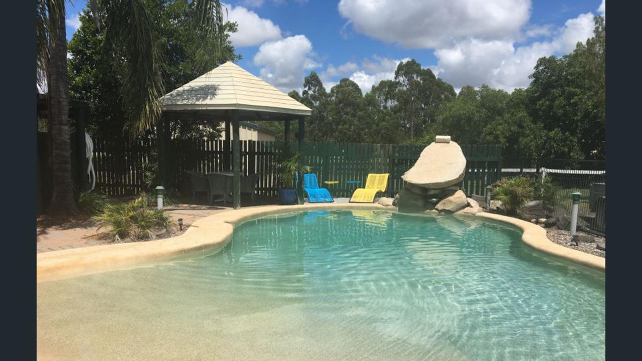 Outdoor pool area at the Wondai Colonial Motel. Picture: Real Commerical