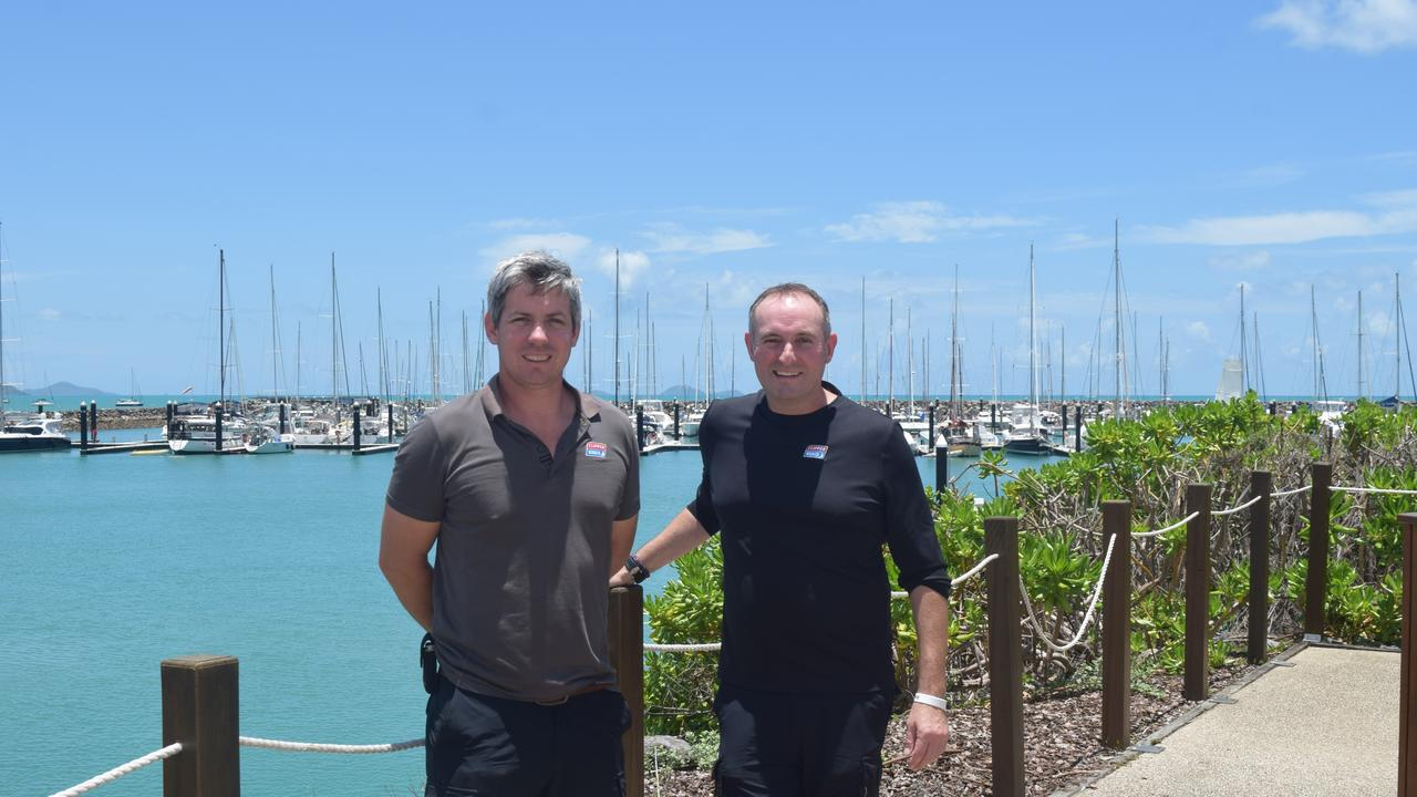 Deputy race director Dale Smyth and race director Mark Light of the Clipper Round the World Yacht Race are preparing for the arrival of the boats into the Whitsundays this week. Picture: Laura Thomas