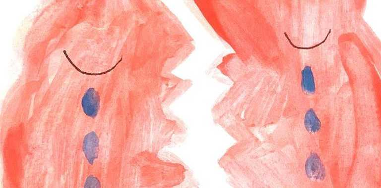 Milly-Rose Tregidgo, 11, painting of a broken Australia after she watched the bush fires on television.