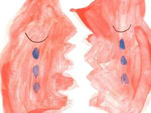 Child's painting captures heartbreak over fires