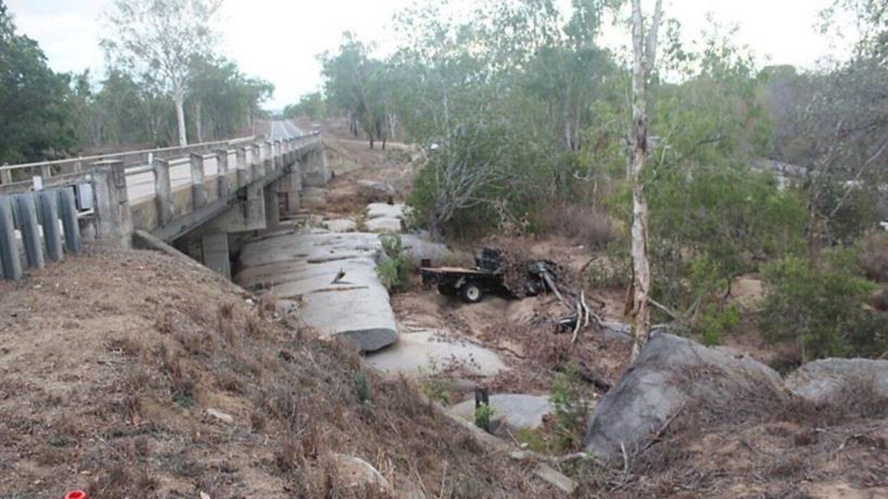 The old-style Nissan Navara ute found under the Jack Phillips Bridge on Peter Delemothe Road at Bogie.