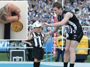 Dayne Beams' medal staying close to home