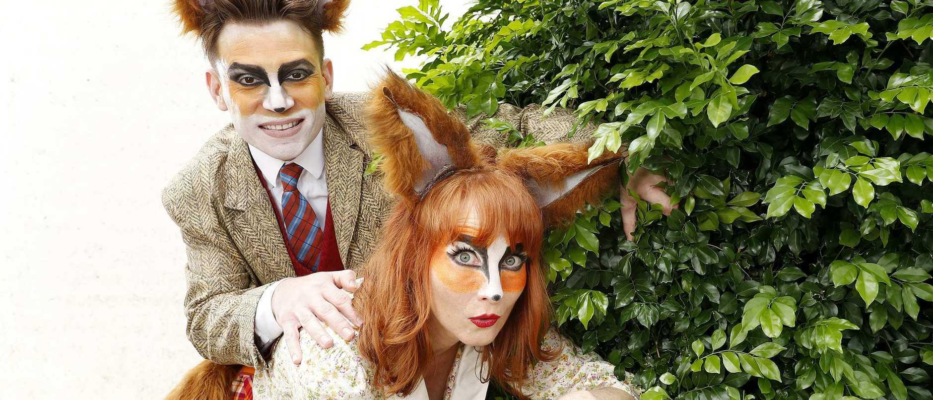 Nick Skubij and Helen Cassidy star in Fantastic Mr Fox.