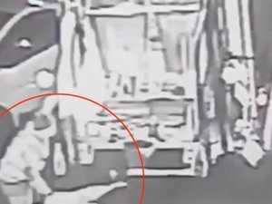 Garbage truck driver cheats death