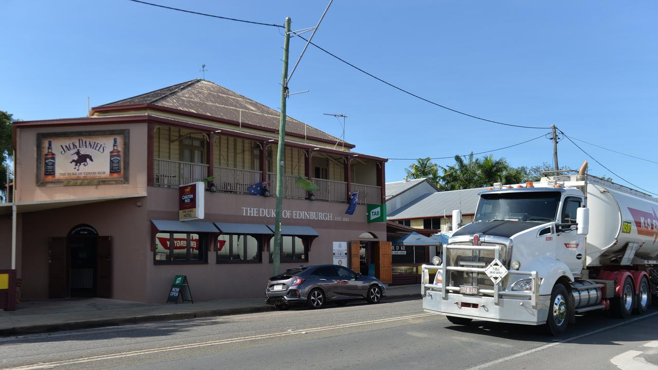 The Peak Downs Highway runs right through Walkerston. Large wide loads drive past primary schools, cafes and other businesses, putting the community at risk.