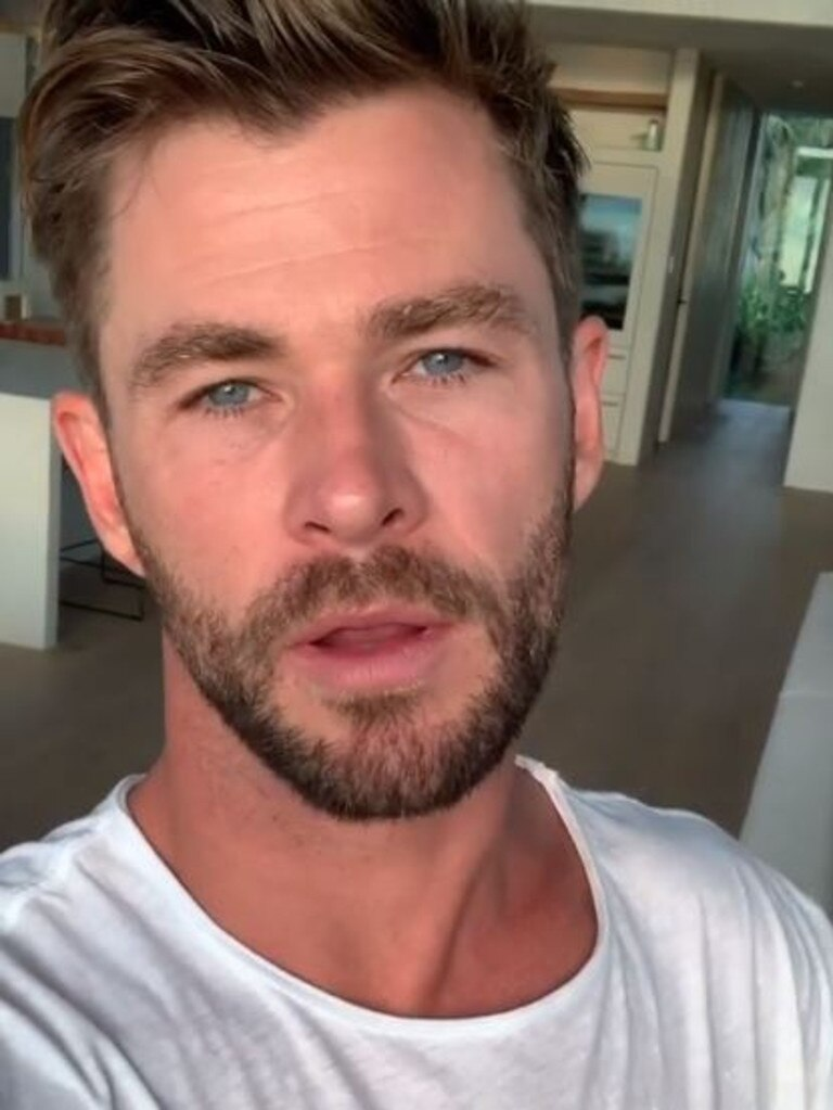 Chris Hemsworth has donated $1 million to bushfire relief. Picture: Instagram