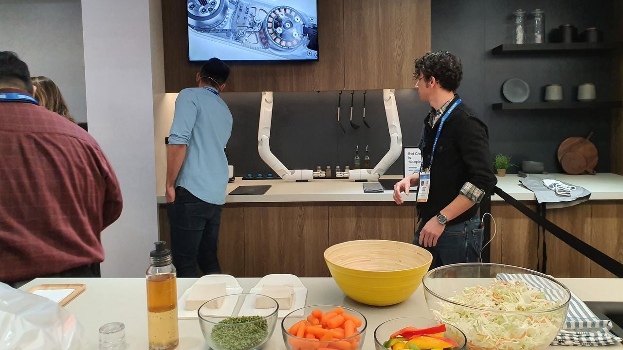 The kitchen scene at Samsung city. Photo: Tanya French