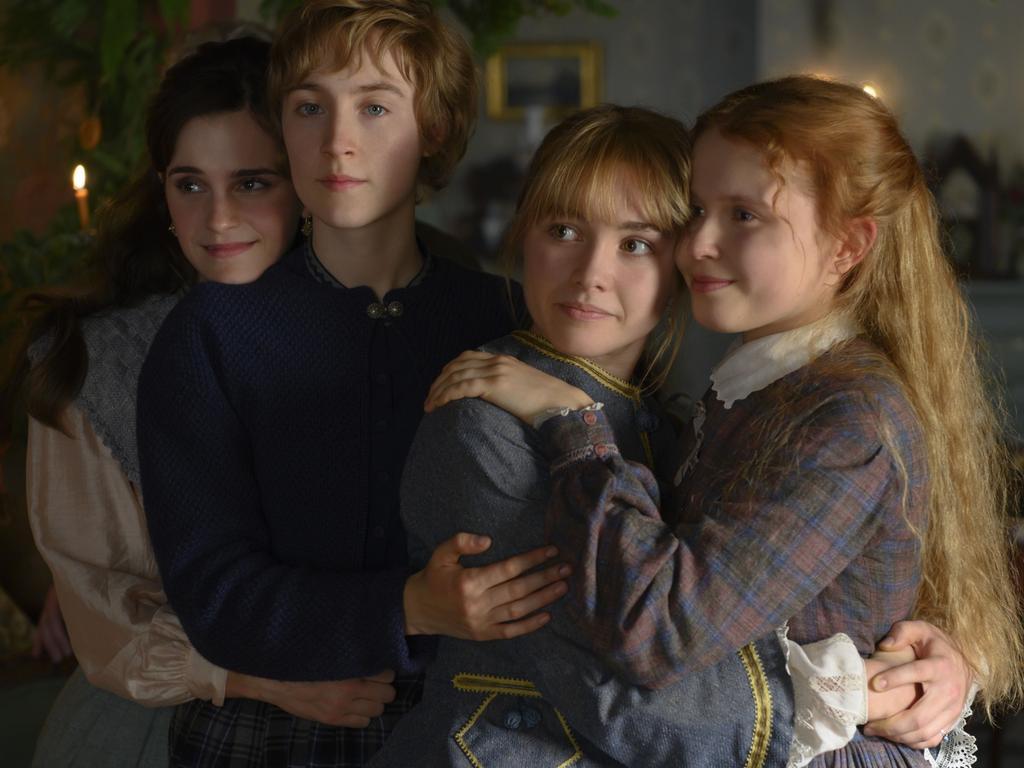 Emma Watson, Saoirse Ronan, Florence Pugh and Eliza Scanlen in a scene from in Greta Gerwig's Little Women. Picture: Supplied