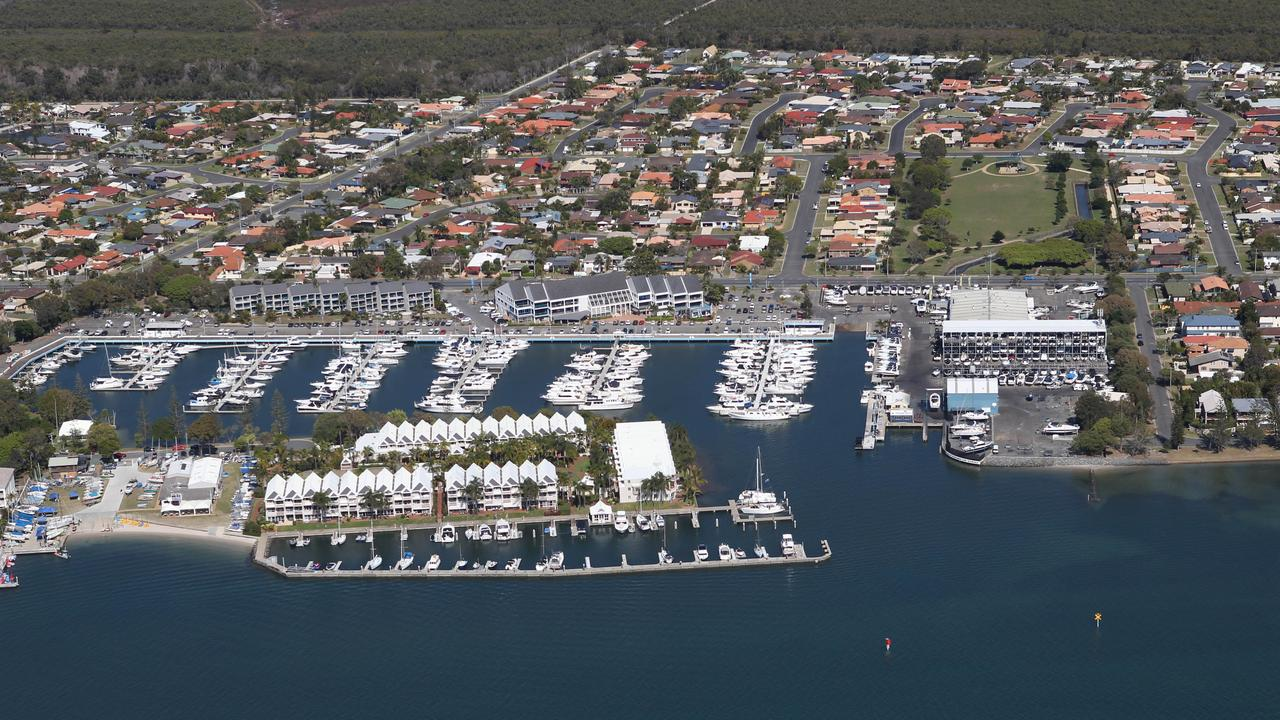 Runaway Bay Marina photographed from the air. Picture: Mike Batterham