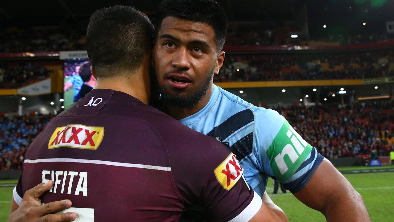 Brisbane's young forwards David Fifita and Payne Haas are exciting to watch. Pics Adam Head