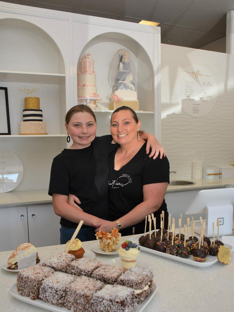Tanesha and Kate Rider inside the brand new cake shop Cake 'A' Licious on Kingaroy Street.