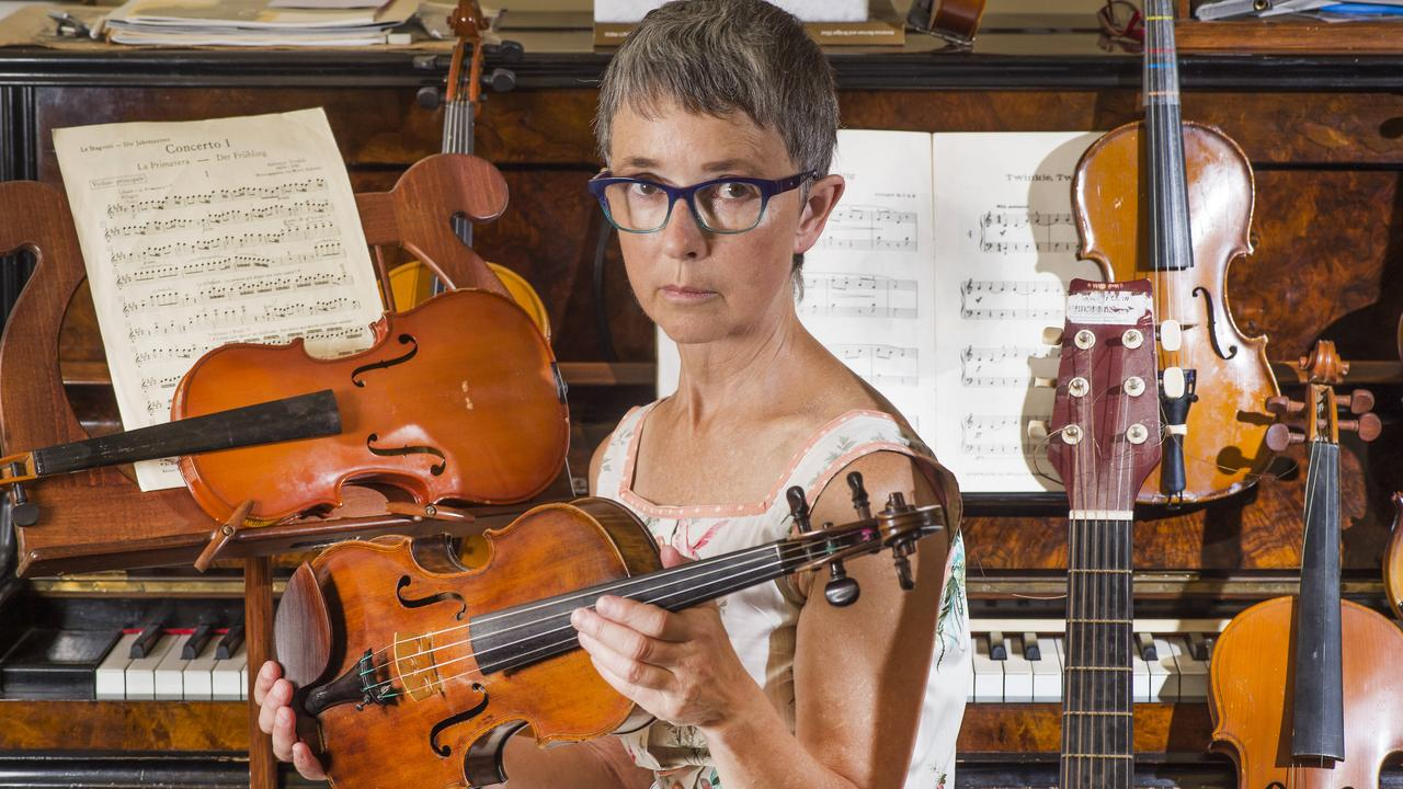 Jenny Occleshaw says losing her violin is like 'losing a limb'. Picture: Rob Leeson