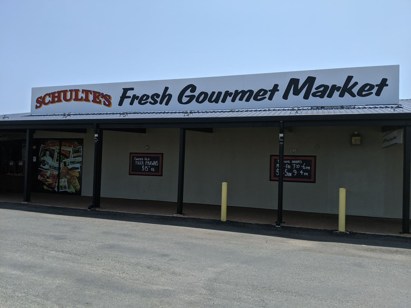 HORRIFIC: A staff member from Schulte's Meat Tavern has been taken to hospital after paramedics worked to free him from a meat slicer.