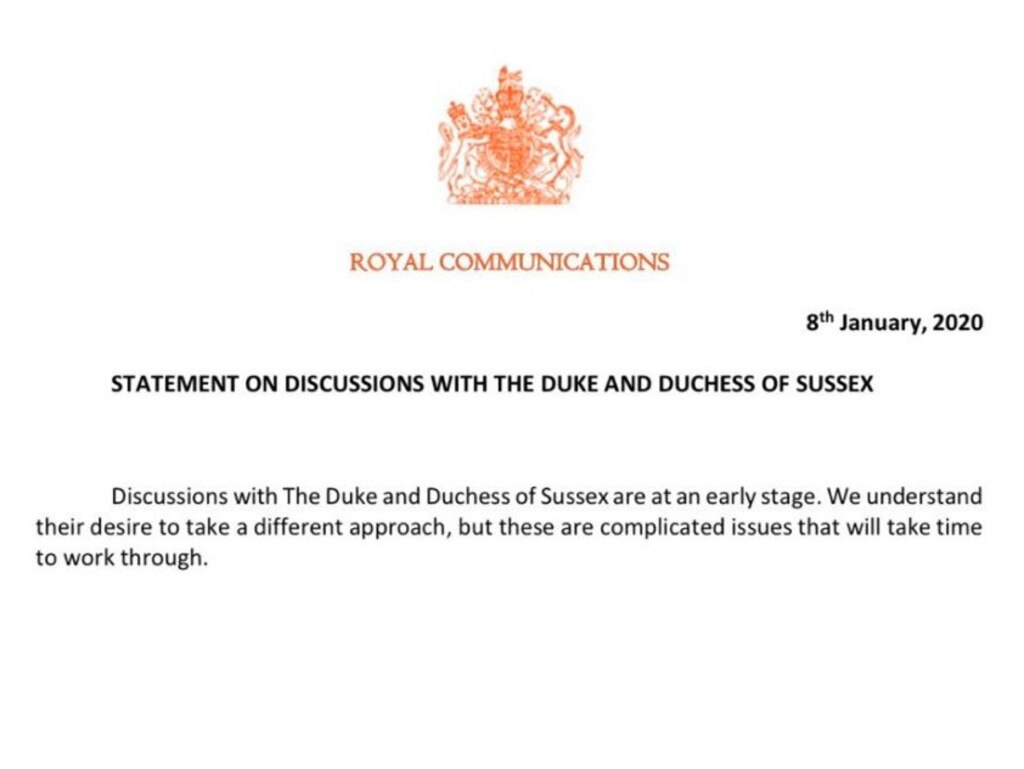 Buckingham Palace has released a statement.