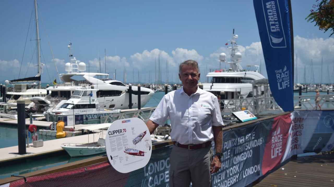Owner of Coral Sea Marina Paul Darrouzet was the mastermind behind bringing the Clipper Round the World Yacht Race to the Whitsundays. Image: Laura Thomas