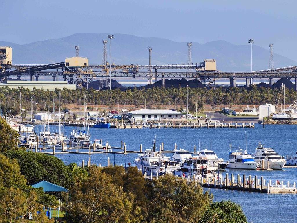 HOLD SEE PIC DESK BRISBANE. Gladstone Port and Marina, the working class town was home to the Round 4 NRL Clash between Manly and the Titans. Photo Lachie Millard