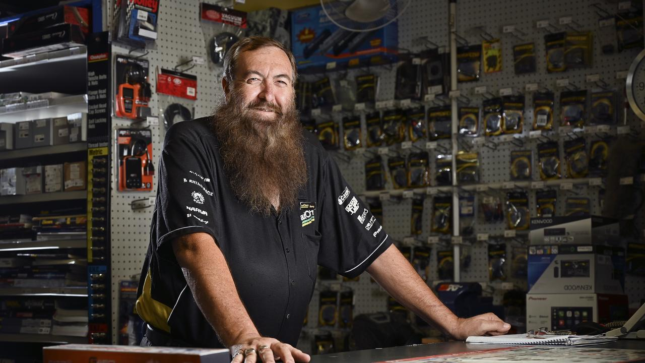 Local legend Barry Allan has worked 38 years in the Ipswich BumpaTBumpa store, which is now Autobarn. Picture: Cordell Richardson