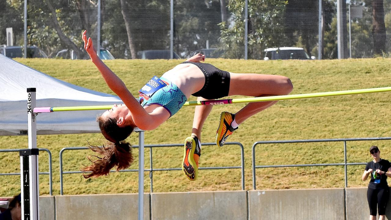 POETRY IN MOTION: Ruth Harrison cleared 1.73m in Sydney to qualify for the Australian All Schools in Perth.