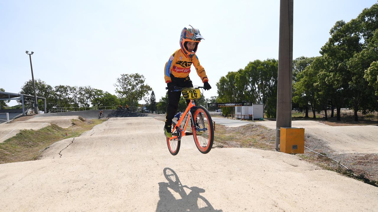 BMX racer Seth Ireland.