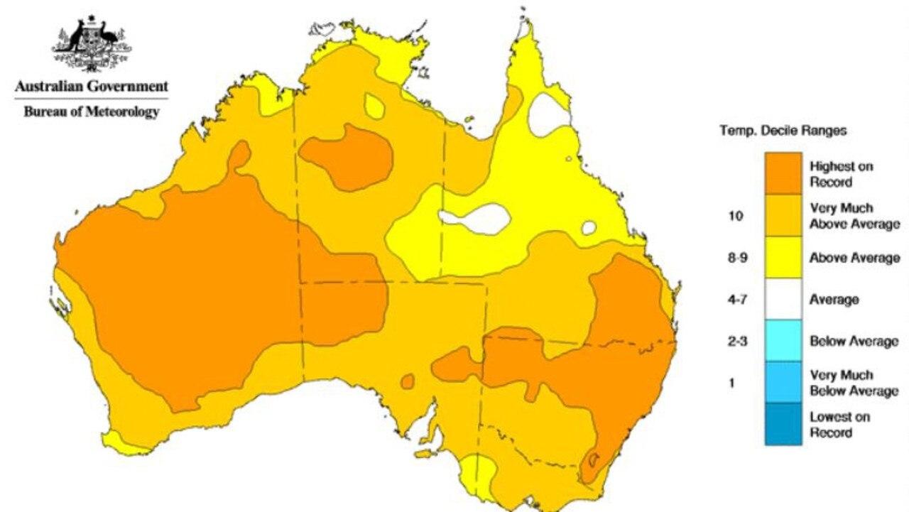 average temperature casino nsw