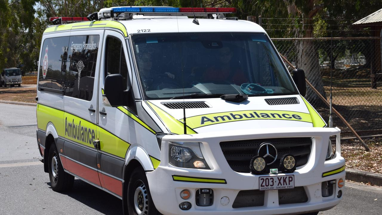 Paramedics are treating a man at a workplace west of Brisbane as co-workers attempt to free him from machinery. File Picture: Eilish Massie